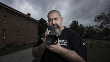 Bill Tabone, head of the Australian Paranormal Society,  with some of his tools of the trade.