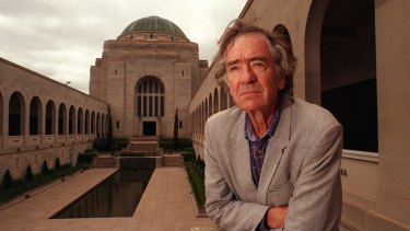 Inglis, author of Sacred Places, at the Australian War Memorial.