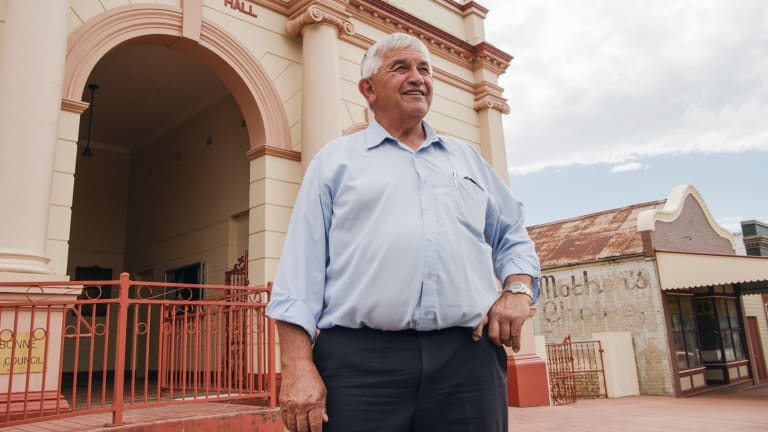 Cabonne mayor Ian Gosper outside the town hall in Molong.