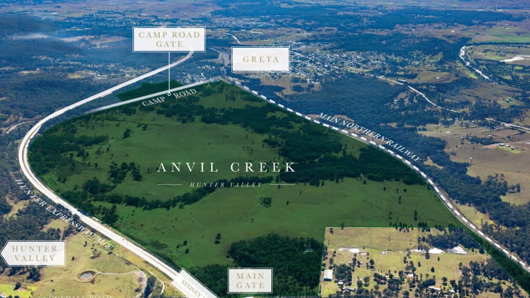 The Windt family is selling Anvil Creek in the Hunter Valley, which has approval for a $1.4 billion mixed-use project.