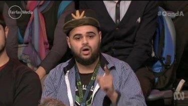 Zaky Mallah, who caused controversy on the ABC's <i>Q&A</i> program.