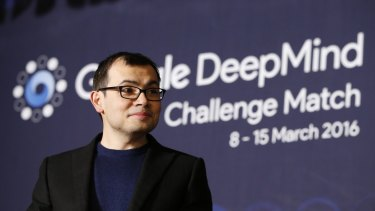 CEO of Google DeepMind Demis Hassabis after the Google DeepMind challenge match between South Korean professional Go player Lee Se-dol and Google's artificial intelligence program, AlphaGo, in Seoul.