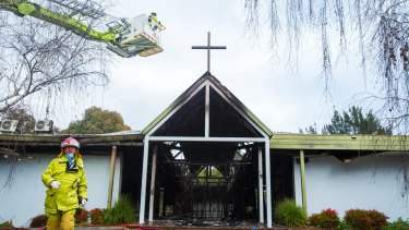 A fire has completely destroyed the Tuggeranong Baptist Church.