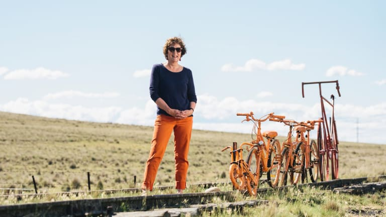 Mary Walters on the Monaro Rail Trail line, at her property near Cooma. There is no indication the council will support the Monaro rail trail, from Queanbeyan to Bombala.