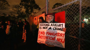 A protest against mandatory detention.