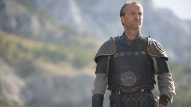 "Iain Glen as Jorah Mormont in <i>Game of Thrones</i>: ""fingers crossed I come out alive""."
