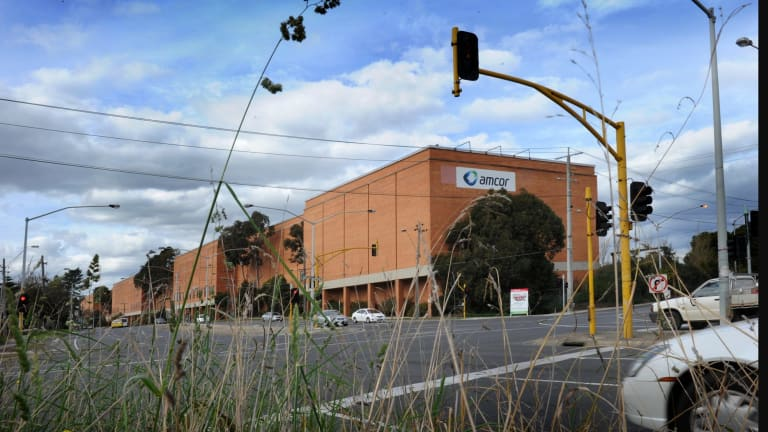 The Amcor paper recycling mill in Fairfield.