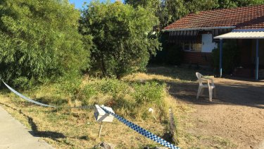 The Perth home has been cordoned off while police investigate.