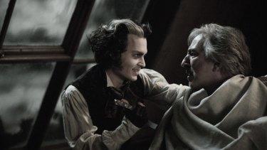 Johnny Depp and Alan Rickman in Sweeney Todd: The Demon Barber of Fleet Street (2007).
