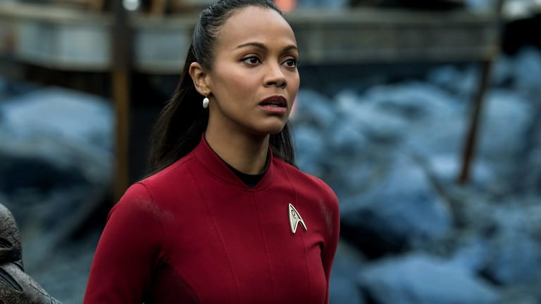 Zoe Saldana plays Uhura in <i>Star Trek Beyond</i>.