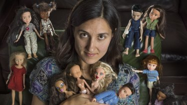 Sonia Singh with some of the dolls she has de-glamourised.
