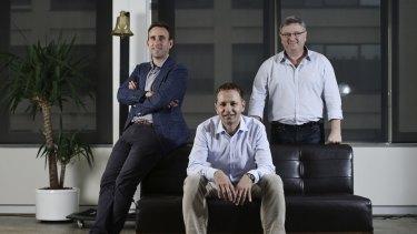 Flare HR co-founders Daniel Cohen, Jan Pacas and Saul Kaplan plan to disrupt default super.