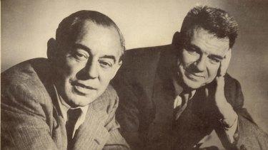 Composer Richard Rodgers, left, and lyricist Oscar Hammerstein II in 1953.