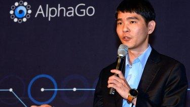 South Korean professional Go player Lee Se-dol  after the match against Google's artificial intelligence program, AlphaGo.