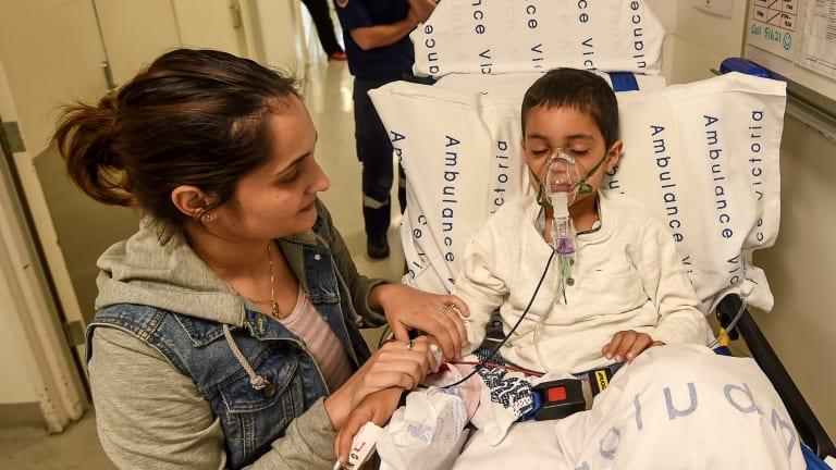 Asthma sufferer Palli Zamani with his mother Rayann Zamani.