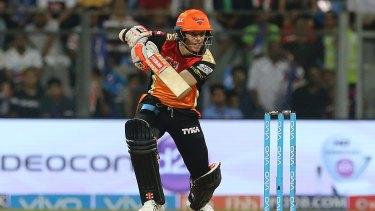Cashing in: David Warner is captain of Sunrisers Hyderabad.