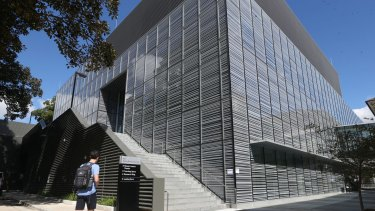 "Shades of the ""monolith"" in the film 2001: A Space Odyssey: the University of Sydney's Nanoscience Hub."