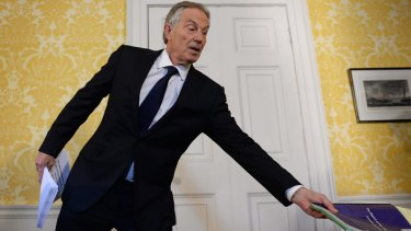 """Tony Blair said """"I express more sorrow, regret and apology than you may ever know or can believe""""."""