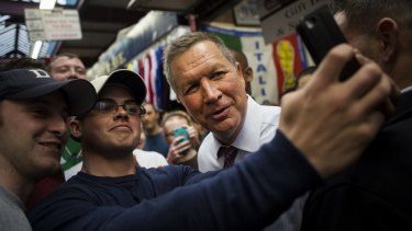 John Kasich, governor of Ohio and 2016 Republican presidential candidate, in the Bronx, New York, on Thursday.