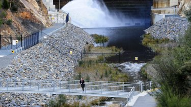 Cotter Dam is one of the huge assets managed by Icon Water.
