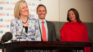 ACT MPs Katy Gallagher, Andrew Leigh and Gai Brodtmann.