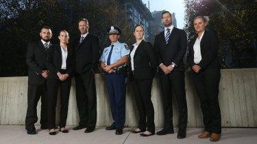 Operation Parrabell members (from left) Brad Yusuf, Ashley Grimes, Hugh Brandon, Craig Middleton, Kathleen Collins, Cameron Bignell and Rebecca Parish.