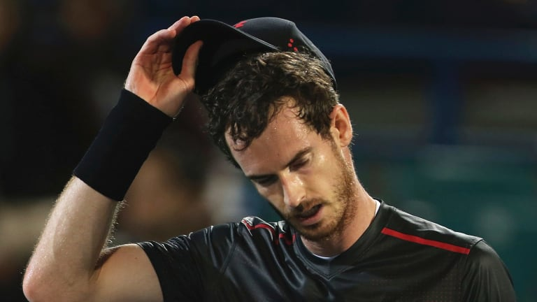 Injured: Andy Murray.