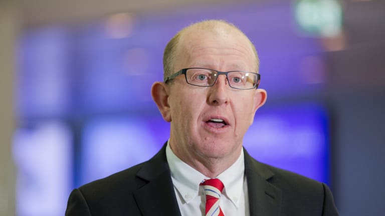 Managing director of the Canberra Airport Stephen Byron.