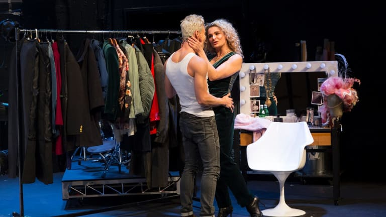 Gender swapping: Ben Gerrard and Danielle Cormack in The Misanthrope.