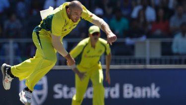 John Hastings follows through in the second ODI.
