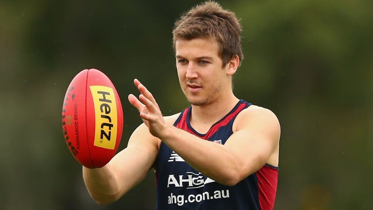 Patient approach: Jack Trengove is not likely to be rushed back to senior footy by Melbourne.