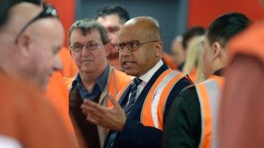 Sanjeev Gupta met with Arrium staff in Melbourne.