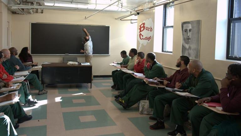 Inside a Bard Prison Initiative class at the Fishkill Correctional Facility., NY.
