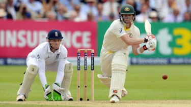 Steve Smith in action during the second test.