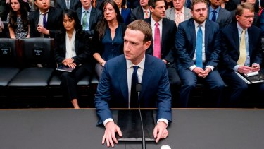 Facebook chief executive Mark Zuckerberg waits to testify before a House Energy and Commerce hearing on Capitol Hill in Washington in April.
