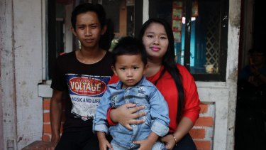 'There was all this shaming': Arief, Aulia and their son in Sukabumi, rural West Java.