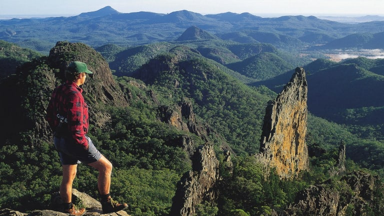 The Warrumbungles, part of the Great Dividing Range, were in part caused by Australia passing over volcanic hotspots.
