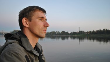 Andrei Bubeyev looks on at the Volga river in Tver, Russia, in a 2010 family photo.