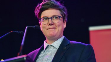 Gadsby at the launch of the Melbourne International Comedy Festival.