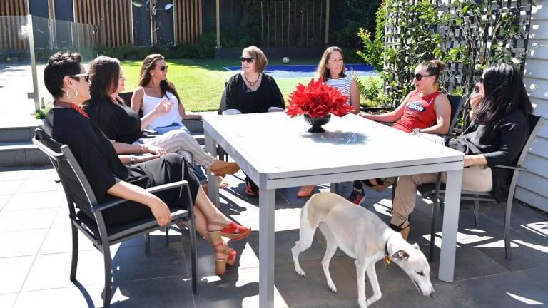 Justine Teggelove, Beth Richards, Narelle Plapp, Nicole Keleher, Beth Richards, Shelley Flett, Alex Anasson and Jo Attard at a Business Chicks Power Players meeting.