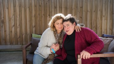 Jessica Eshel and her sister Antonella, who has complex needs and is now worse off every fortnight.