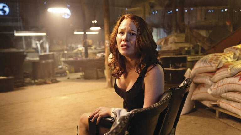 Anna McGahan in the Cairnes brothers' horror comedy <i>100 Bloody Acres</i>.