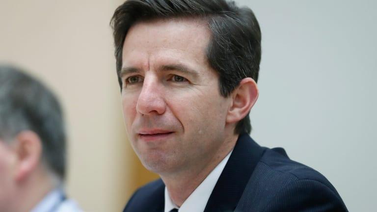 Minister for Education and Training Simon Birmingham.