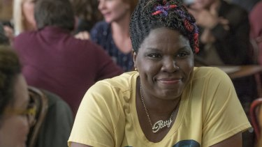 Leslie Jones as Patty in <i>Ghostbusters</i> (2016).