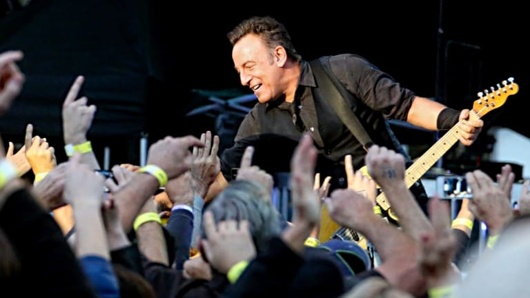 The Boss works the moshpit at Hanging Rock. He takes requests from audiences during his incredible live shows.