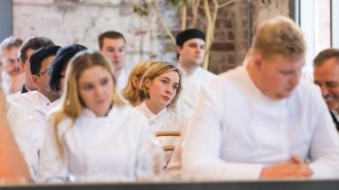 Apprentice chefs listen to some of the world's top chefs speak on the Past, Present and Future of the Hospitality Industry.