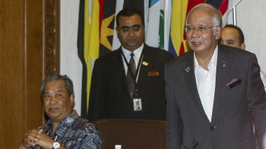 Malaysian Prime Minister Najib Razak, right, and his then deputy Muhyiddin Yassin, in Kuala Lumpur last month.