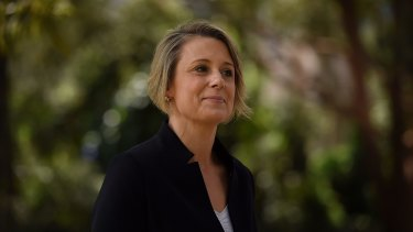 Kristina Keneally in Bennelong on Friday.