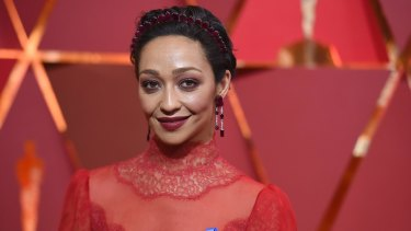 Red carpet: Ruth Negga at the Oscars, where she was nominated for best actress in a leading role.