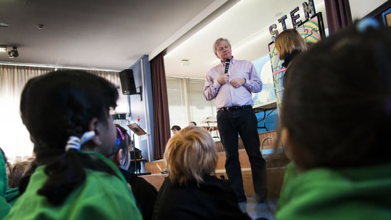 The Turner School STEM Festival (Science, Technology, Engineering, Mathematics) is under way and Dr Schmidt was there to open it.